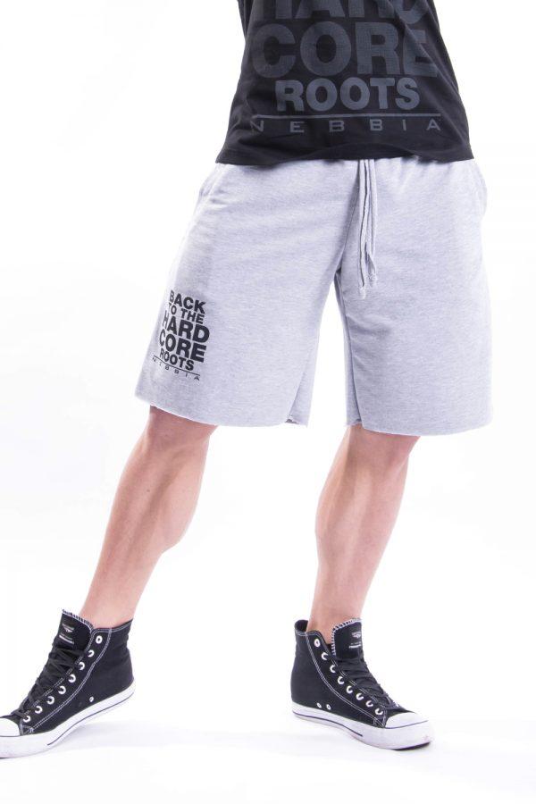 Fitness Shorts Heren Lichtgrijs - Nebbia Hard Core 344