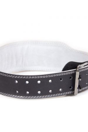 Gorilla-Wear-4-Inch-Padded-Leather-Belt-Zwart-2
