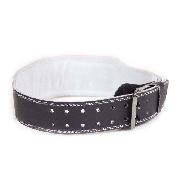 Gorilla-Wear-4-Inch-Padded-Leather-Belt-Zwart-2