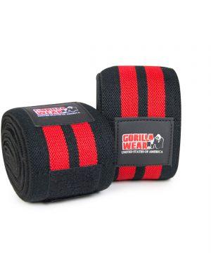 Gorilla-Wear-79-Inch-Knee-Wraps-Zwart-Rood-(200cm)-0