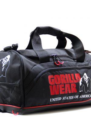 Gorilla-Wear-Jerome-Gym-Bag-Zwart-Rood-1
