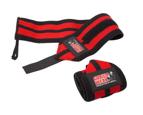 Gorilla-Wear-Wrist-Wraps-PRO-Zwart-Rood-1