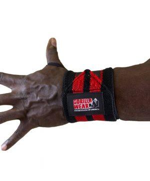 Gorilla-Wear-Wrist-Wraps-PRO-Zwart-Rood-3