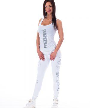 Carbon Fitness Tanktop Dames Wit - Nebbia 221-1