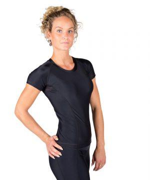 Compressie T-shirt Zwart Carlin - Gorilla Wear-3