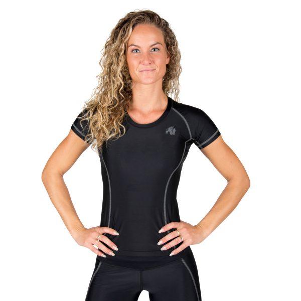 Compressie T-shirt Zwart Grijs Carlin - Gorilla Wear-1
