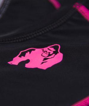 Compressie T-shirt Zwart Roze Carlin - Gorilla Wear-4