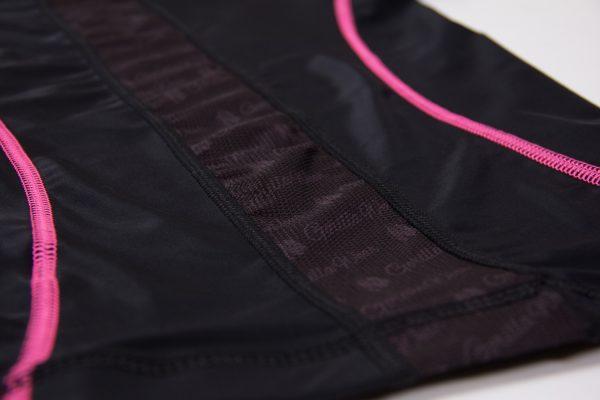 Compressie T-shirt Zwart Roze Carlin - Gorilla Wear-5