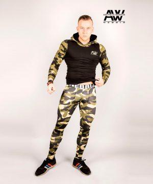 Fitnes Vest Heren Camo Groen - Nebbia 116-1