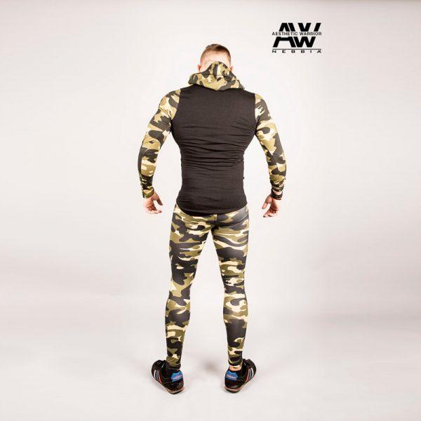 Fitnes Vest Heren Camo Groen - Nebbia 116-2