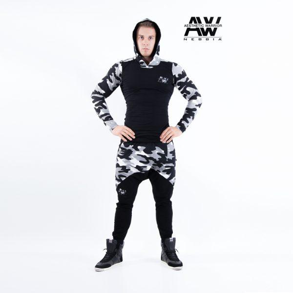 Fitnes Vest Heren Camo Wit - Nebbia 116-1