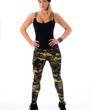 Fitness Broek Dames Camo Groen - Nebbia 204-1