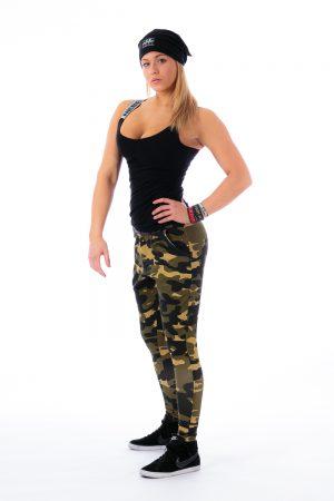 Fitness Broek Dames Camo Groen - Nebbia 204-2