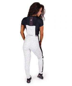 Fitness Broek Dames Grijs Dolores Dungarees - Gorilla Wear-full-1