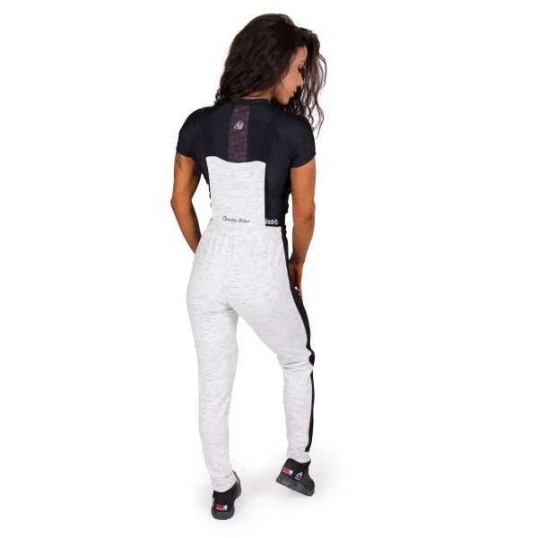 Fitness Broek Dames Grijs Dolores Dungarees - Gorilla Wear-full-1