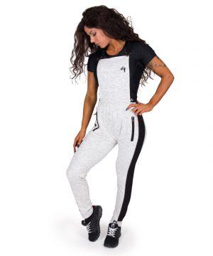 Fitness Broek Dames Grijs Dolores Dungarees - Gorilla Wear-full-2