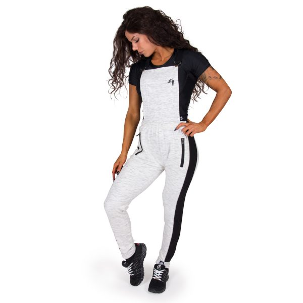 Fitness Broek Dames Grijs Dolores Dungarees - Gorilla Wear-full-2