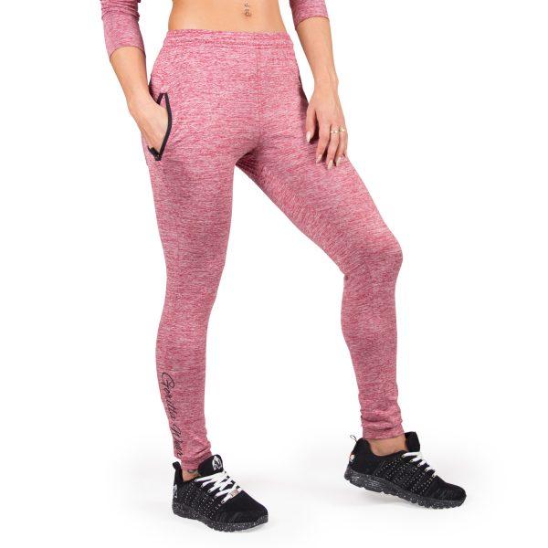 Fitness Broek Dames Rood Shawnee - Gorilla Wear-1