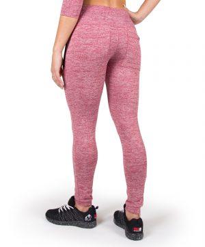 Fitness Broek Dames Rood Shawnee - Gorilla Wear-3