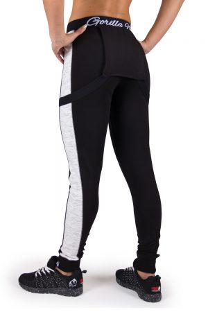 Fitness Broek Dames Zwart Dolores Dungarees - Gorilla Wear-2