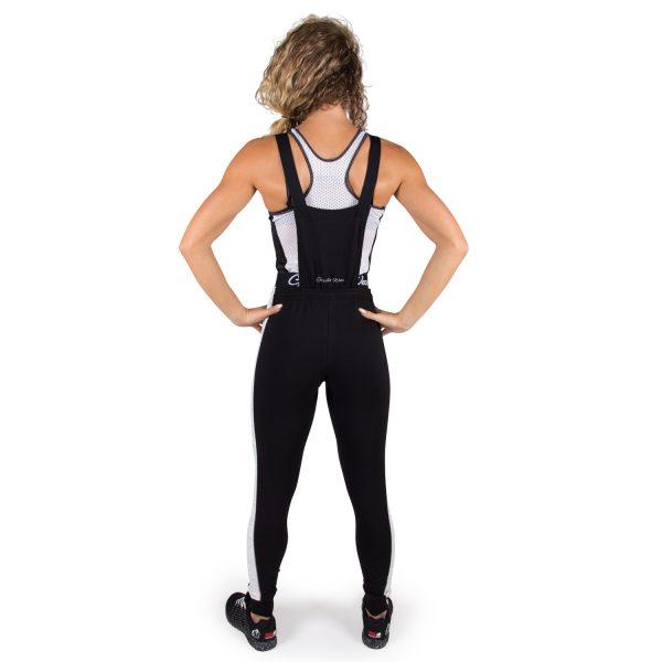 Fitness Broek Dames Zwart Dolores Dungarees - Gorilla Wear-full-1