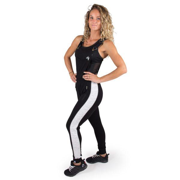 Fitness Broek Dames Zwart Dolores Dungarees - Gorilla Wear-full-2