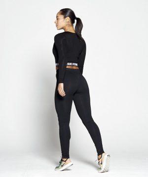Fitness Broek Dames Zwart Slim Stretch - Pursue Fitness-2