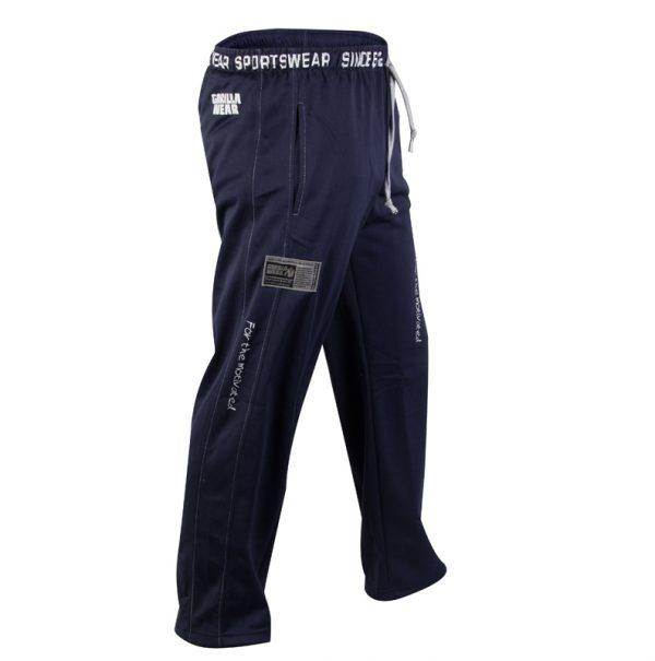 Fitness Broek Heren Blauw - Gorilla Wear Logo Mesh-2