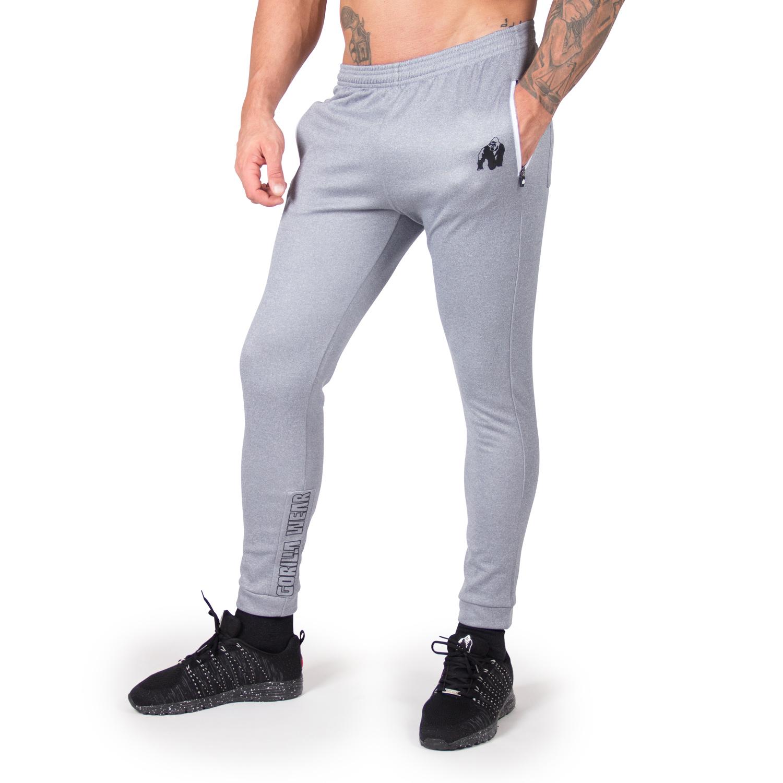 Fitness Broek Heren Blauw Zilver Bridgeport Gorilla Wear