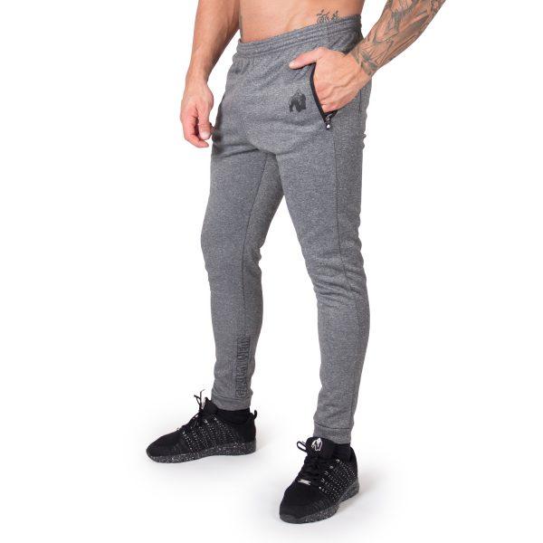 Fitness Broek Heren Donkergrijs Bridgeport - Gorilla Wear-1