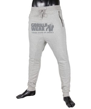 Fitness Broek Heren Grijs - Gorilla Wear Alabama-1