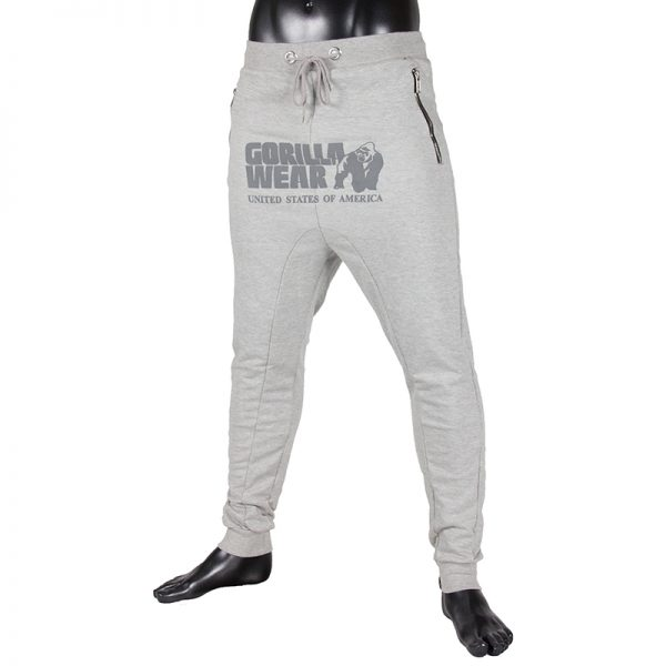 Fitness Broek Heren Grijs - Gorilla Wear Alabama-1