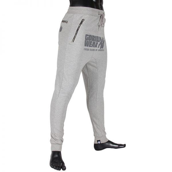 Fitness Broek Heren Grijs - Gorilla Wear Alabama-2