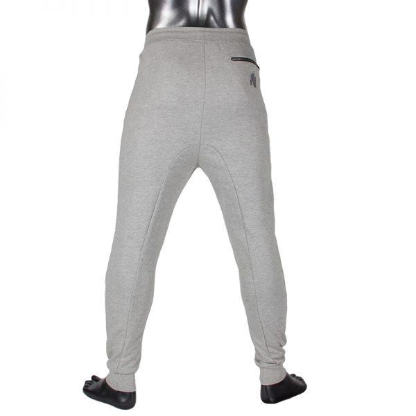 Fitness Broek Heren Grijs - Gorilla Wear Alabama-3