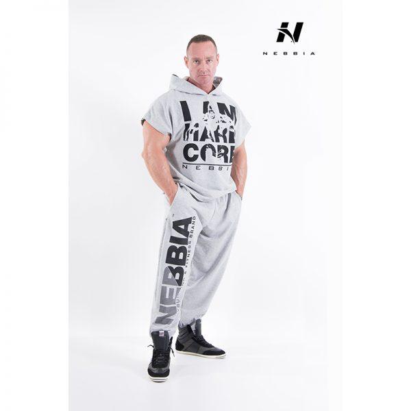 Fitness Broek Heren Lichtgrijs - Nebbia Hard Core Sweatpants 310-1