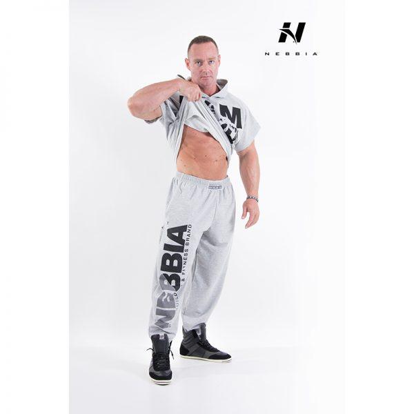 Fitness Broek Heren Lichtgrijs - Nebbia Hard Core Sweatpants 310-2