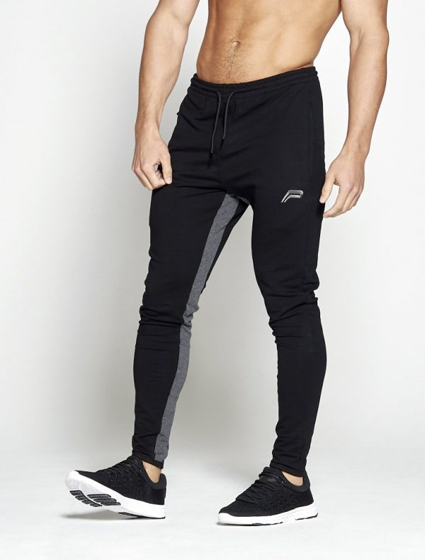 Fitness Broek Heren Pro-Fit Tapered Zwart Grijs - Pursue Fitness-1