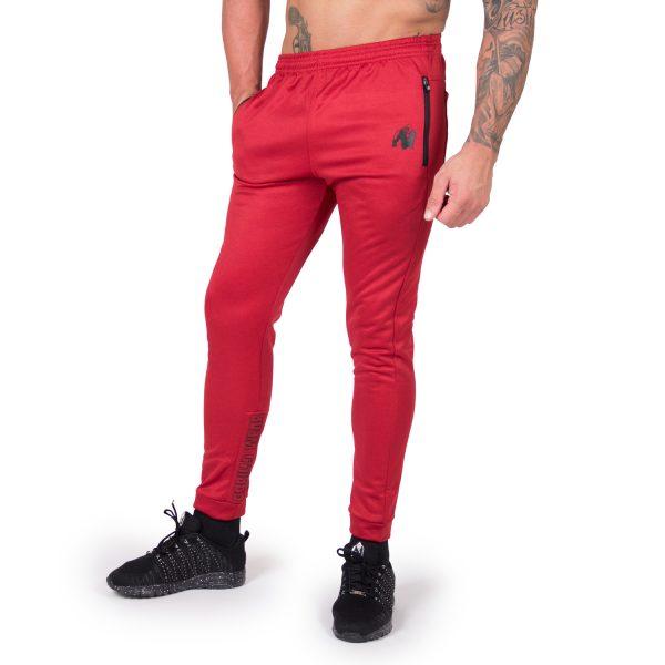 Fitness Broek Heren Rood Bridgeport - Gorilla Wear-1