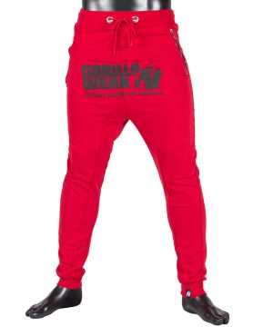 Fitness Broek Heren Rood - Gorilla Wear Alabama-1