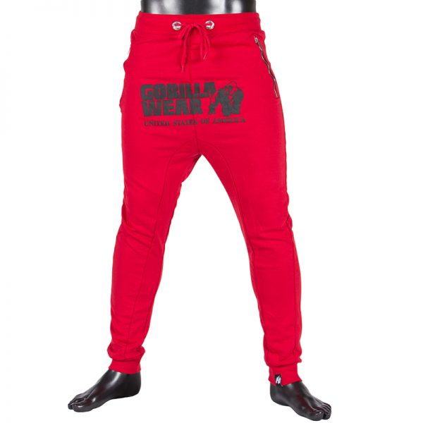 Fitness Broek Heren Rood - Gorilla Wear Alabama-1