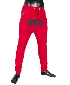 Fitness Broek Heren Rood - Gorilla Wear Alabama-2