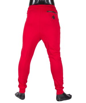 Fitness Broek Heren Rood - Gorilla Wear Alabama-3