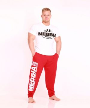 Fitness Broek Heren Rood - Nebbia Hard Core Sweatpants 310-1