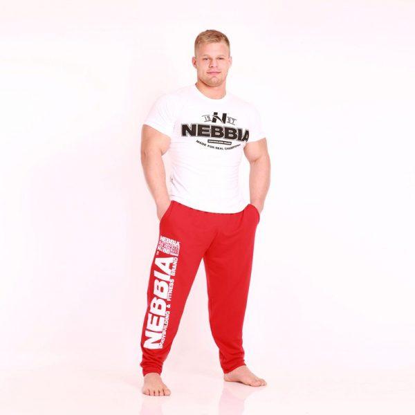 Fitness Broek Heren Rood - Nebbia Hard Core Sweatpants 310-1