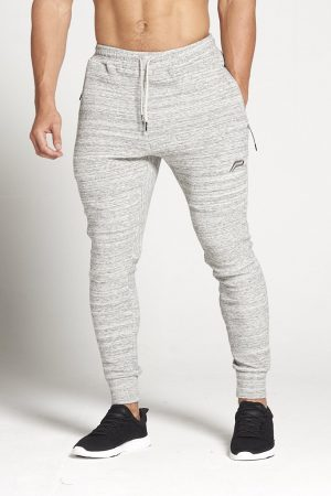 Fitness Broek Heren Slub Grijs - Pursue Fitness-1