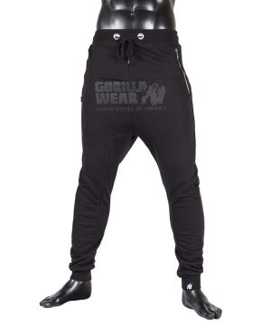 Fitness Broek Heren Zwart - Gorilla Wear Alabama-1
