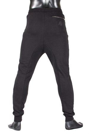 Fitness Broek Heren Zwart - Gorilla Wear Alabama-3