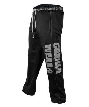 Fitness Broek Heren Zwart - Gorilla Wear Logo Mesh-1
