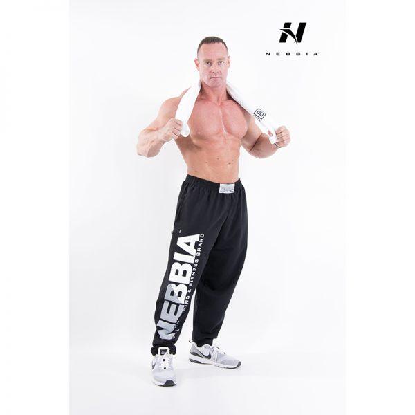 Fitness Broek Heren Zwart - Nebbia Hard Core Sweatpants 310-1