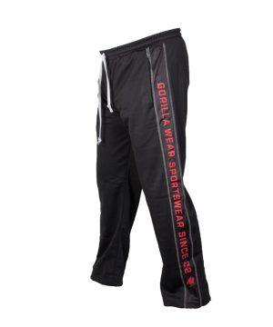 Fitness Broek Heren Zwart Rood - Gorilla Wear Functional Mesh-1